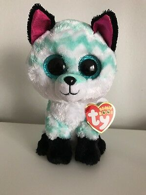 """New Rare Ty Beanie Boo Piper Fox Claires Exclusive 6"""" Soft Plush Toy"""