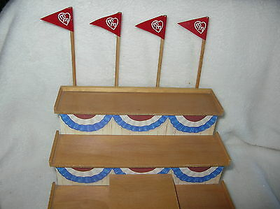 Blue Ribbon Bovines Bleacher Displayer with Three Levels and Flag Banners