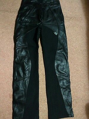 Ladies Richa leather and textile motorbike trousers size 10