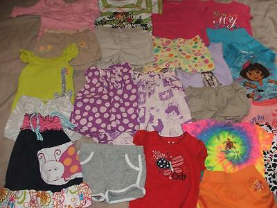 Huge Lot Of Girls Spring Summer Clothing Size 18-24 Months 2T Euc