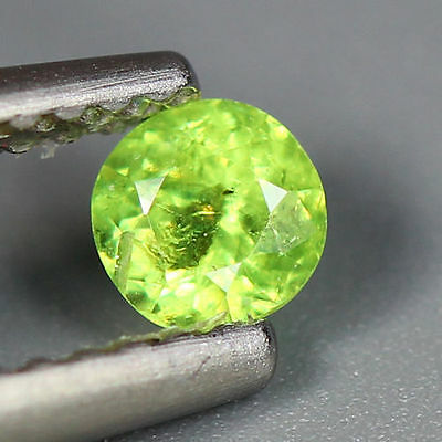 0.30 Cts_Wow Amazing Hot Sale Round Cut_100 % Natural Russian Demantoid Garnet
