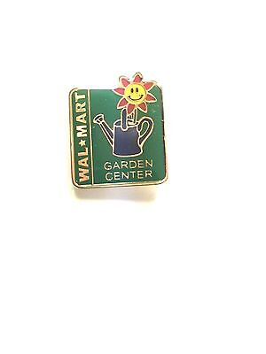 Rare Walmart Garden Center Lapel Pin Wal-Mart Pinback Brand New