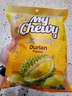 DURIAN Toffee Chewy Milk Fruit Candy Product MY CHEWY Thai Snack 360g.