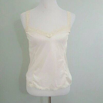 Vintage Lingerie 1960s Nude Cream Cami Camisole Tank by Mel Lin M 34B