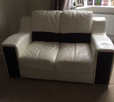 DFS Leather Sofa Set 3 Seater, 2 Seater, 1 Seater, Foot Stool