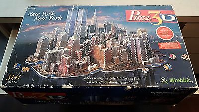 Puzz 3D New York New York Puzzle Wrebbit Complete With Instructions 3,141 Pieces