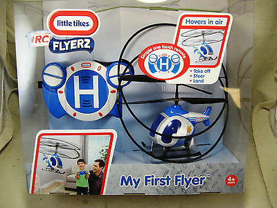 Little Tikes My First Flyer Helicopter- BLUE RC REMOTE CONTROL FLYERZ New Sealed