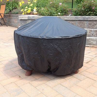 30 inch Round Fire Pit Cover Black Vinyl Durable PVC NEW Patio Style Concepts