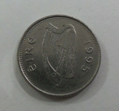 Irish 10p coin ten pence 10 p. used 1995 Eire.