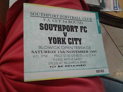 southport v york 97.98 fa cup