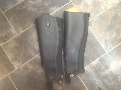 Treadstone Childs Half Chaps, Black, Size M
