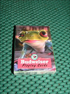1996 Anheuser-Busch Budweiser Frog Playing Cards ~ Unopened