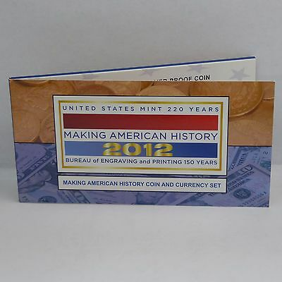 2012 Making American History Coin and Currency Set w/ 2012 Proof Silver Eagle