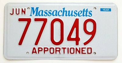 Mint Massachusetts Apportioned Semi-Truck License Plate