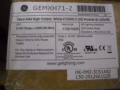 GEMXH71-2 Tetra Max High Output White  7100K 3 LED  case of 5- 20 ft. strips