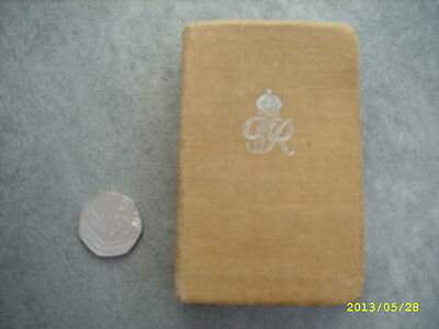 WWII British Army  Active Service New Testament / Bible - Scotland - NO MEDALS