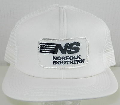 NORFOLK SOUTHERN White Railroad CAP Hat ~ Never Worn