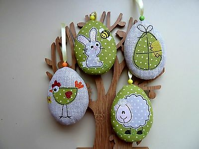 Handmade Easter Eggs Hanging decorations. Set of 4