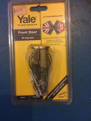 YALE FRONT DOOR x5 CYLINDER 6-PIN PERFORMANCE CYLINDER LOCK  BRASS