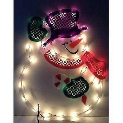 impact innovations christmas lighted window decoration waving snowman new