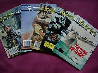 Commando War Stories in Pictures DC Thomson X6 issue Job Lot 1987/92 VGC/FN