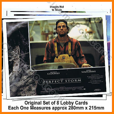Mark Wahlberg George Clooney 8 Original Lobby Card Picture Set Perfect Storm NEW