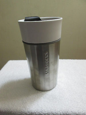 Starbucks Ceramic / Stainless Steel Tumbler Travel Mug 12 oz. NEW