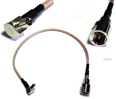 RG316 TS9 Male Right Angel to FME Male Plug RF Pigtail Jumper Cable 25cm
