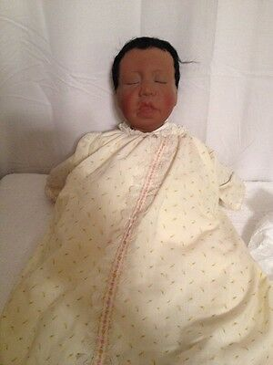 """Pre-owned 1985 19"""" Lee Middleton """"Dear One"""" African American Baby Doll Signed"""