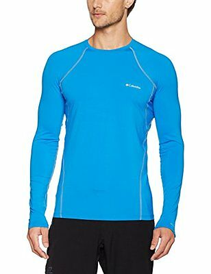 Columbia Midweight Stretch Long Sleeve Top Intimo Termico, Hyper Blue, XL