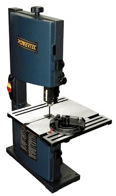 POWERTEC Band Saw 9-Inch Table Rack Pinion Adjustment Easy Tilt To 45 Degrees
