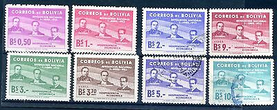1953 Bolivia  mint & Used 3 of then Aerea stamps 1st Anniv of Revolution 1952
