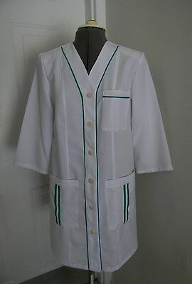 Medical White Women's med Doctor Nursing Jacket Lab Coat M Size
