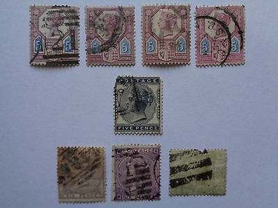 Queen Victoria Stamps. 5d and 6d.