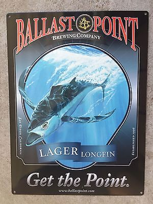 Ballast Point Longfin Lager Tuna Fish Craft Beer Brewery Vintage Ad Metal Sign
