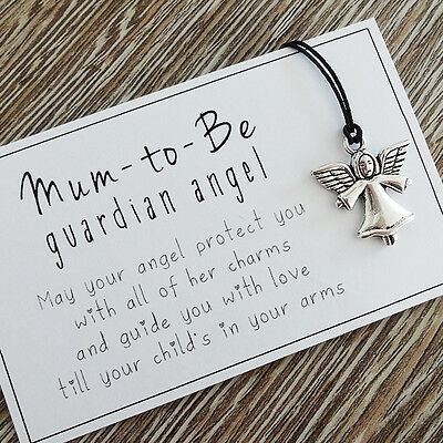 Mum-to-be guardian angel token - ideal baby shower gift