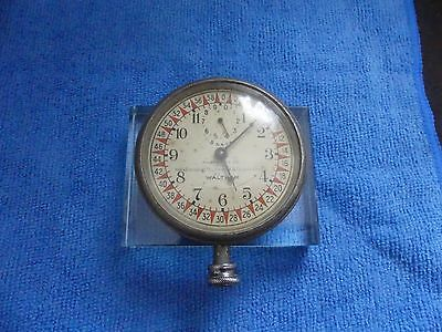 "Waltham 8 Day Vehicle Clock ""Property of New England Telephone Co."" Running"