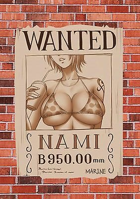 Lot Sticker Autocollant/magnet Multi Format A5 A6 A7 A8 One Piece Wanted Nami.