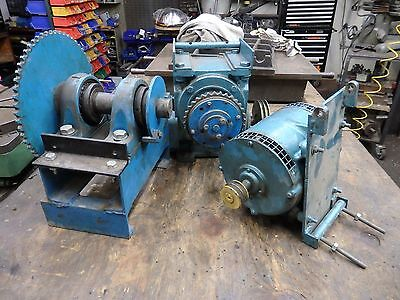 motor gearbox and chain drive from a lift assembly