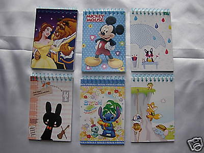12 Mini- Notebooks for Children Kids Birthday Party Loot Party Gift Bags