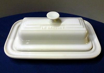 Le Creuset Covered Butter Dish White