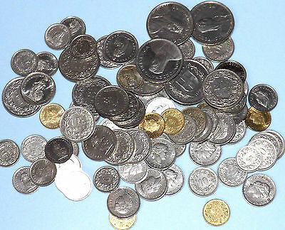 Collection Of 55.55 Swiss Francs Coins