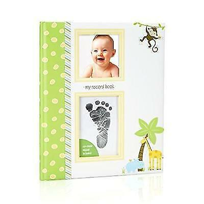 Lil' Peach Safari Baby Memory Book with an Included Clean-Touch Ink Pad to New