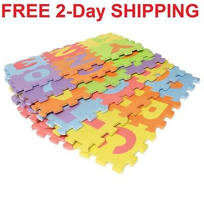 Baby Foam Floor Play Mat 36 pcs Puzzle Alphabet 0 to 9 Kids Letters & Numbers