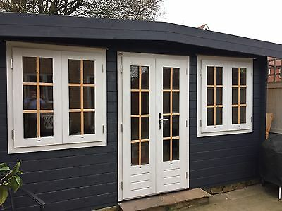 4.2 X 2.4 44mm Log Cabin Insulated, Electrics And Painted