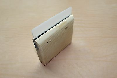 New custom made 4 inch Squeegee, scraper for use in Art work painting etc.