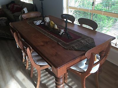 Timber Dining Room Setting And Chairs