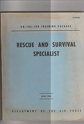 Rescue & Survival Specialist-April 1959 By Dept. Of The Air Force