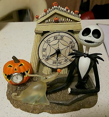 Rare Collectable Tim Burton The Nightmare Before Christmas Desk Clock Jack Zero