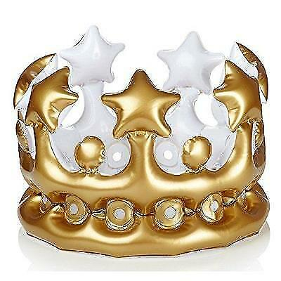 NPW-USA King for The Day Inflatable Crown, Gold New